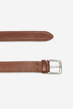 Cortefiel Plain leather belt Brown