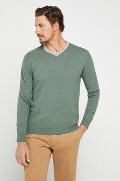 Cortefiel V-neck jumper  Pistachiogreen