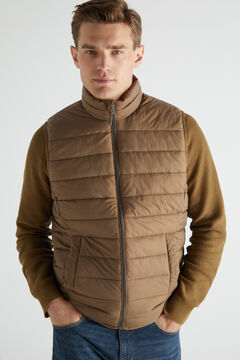 Cortefiel Ultralight quilted gilet Mole