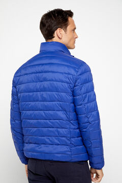 Cortefiel Ultralight quilted jacket with Thermolite eco Royal blue