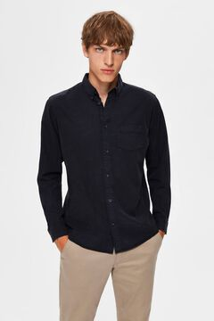 Cortefiel Camisa sostenible regular fit Azul