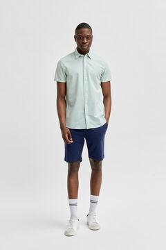 Cortefiel Plain shirt Pistachiogreen