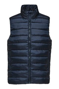 Cortefiel Recycled filling gilet Royal blue