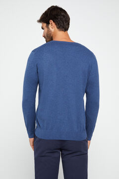 Cortefiel Crew neck jumper Turquoise