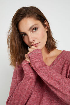 Cortefiel Soft collection jumper Fuchsia