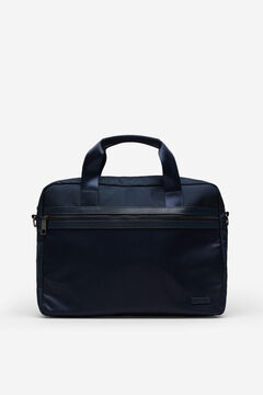 Cortefiel Nylon laptop bag Navy