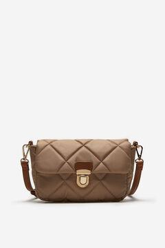 Cortefiel Padded nylon crossbody bag Brown