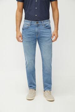 Cortefiel Slim fit medium wash lightweight jeans Stone
