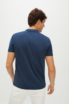 Cortefiel Short-sleeved logo polo shirt Navy