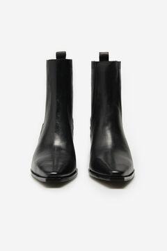 Cortefiel Cowboy low ankle boot Black