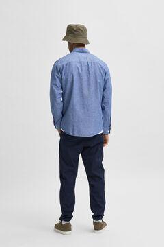 Cortefiel Slim fit shirt Royal blue