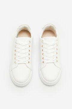 Cortefiel Ultra Light snakeskin effect sneakers White