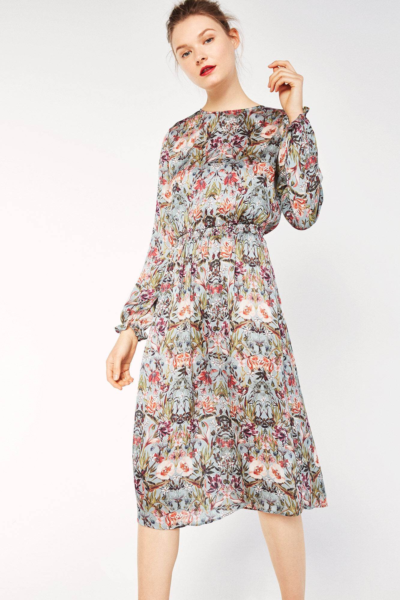 Womens Vestido Manga Larga Dress Cortefiel N6diQU