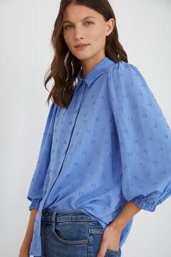 Cortefiel Metallic polka-dot shirt Blue