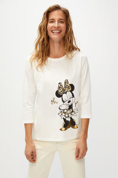 Cortefiel Organic cotton Minnie Mouse t-shirt Ecru