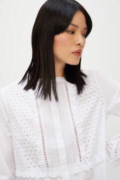 Cortefiel Schiffli lace shirt White