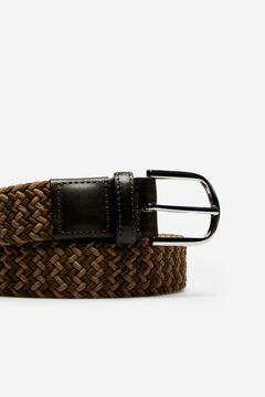 Cortefiel Woven fabric belt Dark gray