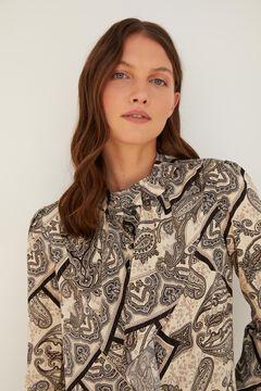 Cortefiel Printed shirt Gray