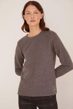 Cortefiel Soft feel crew neck t-shirt Gray
