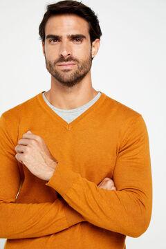 Cortefiel V-neck jumper Beige