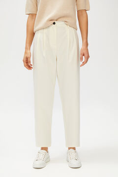 Cortefiel Straight cut trousers White