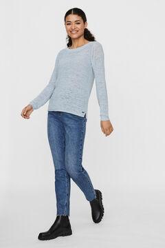 Cortefiel Knit jumper Royal blue