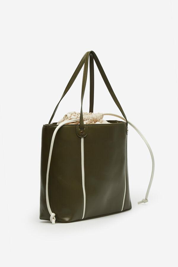 982efb4f3 Cortefiel Bolso shopper Verde. Comprar
