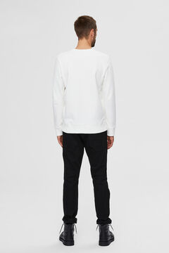 Cortefiel Organic sweatshirt White