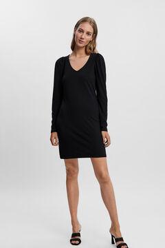 Cortefiel Essential short dress Black