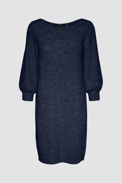 Cortefiel Essential jersey-knit dress Navy