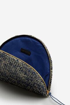 Cortefiel Half-moon raffia wallet Bluejeans