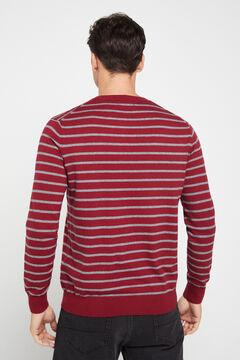 Cortefiel Round neck sweater Fuchsia
