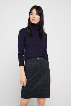 Cortefiel Jersey-knit skirt Green