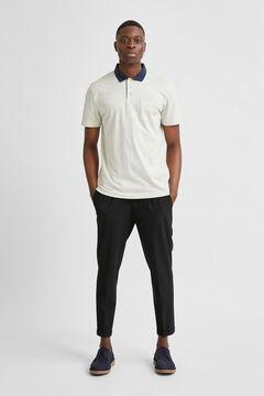 Cortefiel Short-sleeved polo shirt Gray