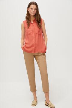 Cortefiel Sleeveless shirt Red