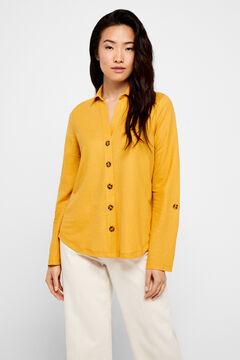 Cortefiel Comfort shirt Yellow