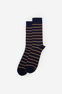 Cortefiel Two-tone striped socks Navy