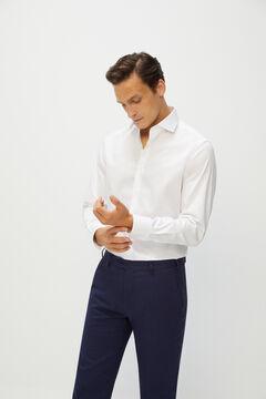 Cortefiel Plain, classic fit dress shirt White