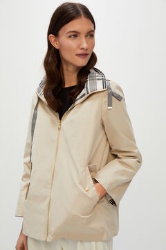 Cortefiel Reversible water-repellent parka Ecru
