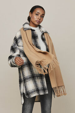 Cortefiel Recycled polyester scarf  Tobaco