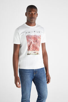 Cortefiel Short-sleeved t-shirt White
