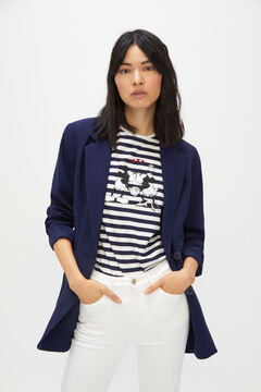 Cortefiel Mickey Mouse top Navy
