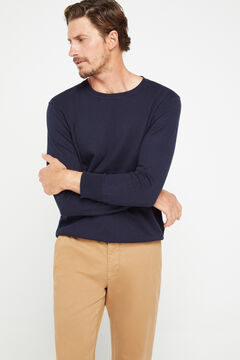 Cortefiel Classic fit winter weight chinos Mink