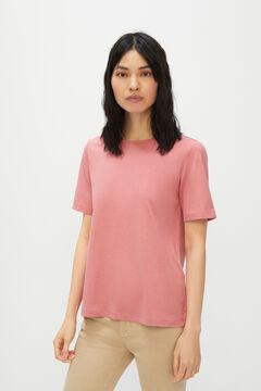 Cortefiel Essential crew neck t-shirt Pink
