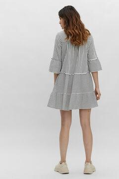 Cortefiel Short dress stripes Natural