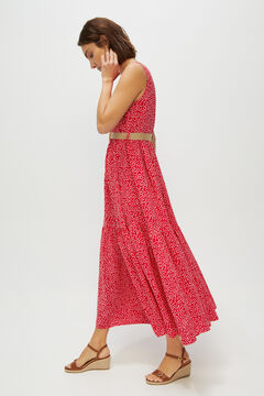 Cortefiel Long floaty dress Pink