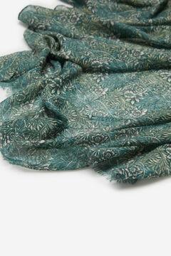 Cortefiel Floral print warm scarf Dark gray