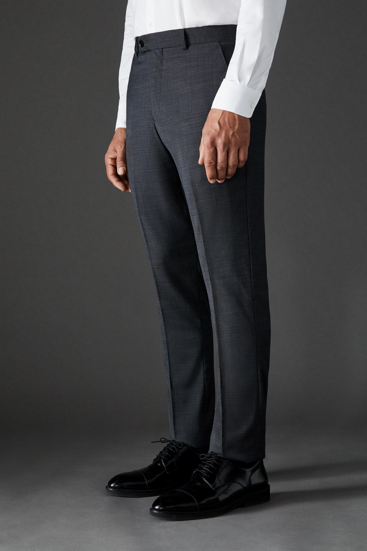 Pantalón de traje de la Colección Black de hombre slim gris