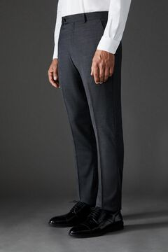 Cortefiel Grey slim fit suit trousers Dark gray