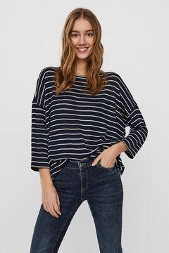Cortefiel 3/4-length sleeve blouse Navy